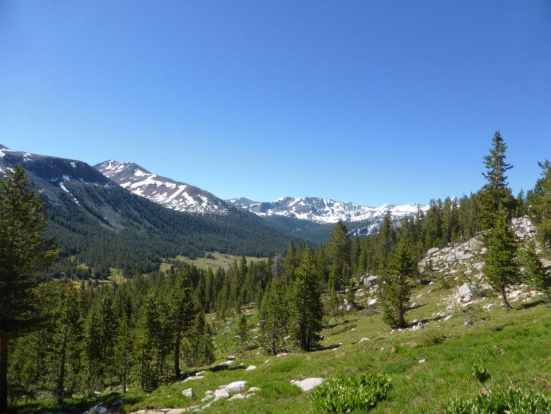 Gaylor Lakes trail Yosemite Californie