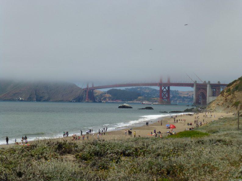 Golden Gate Bridge depuis Baker Beach, San Francisco