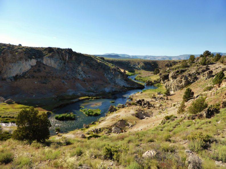 Hot Creek vers Mammoth Lakes