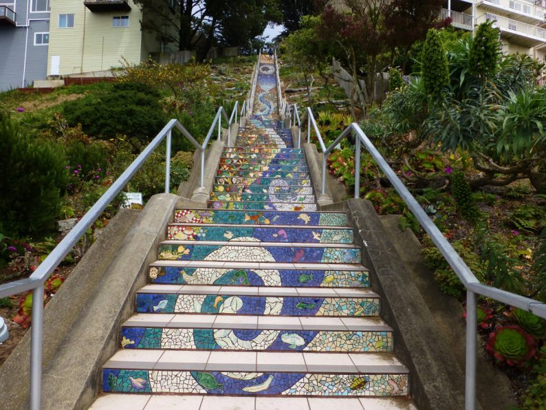 Moraga steps, San Francisco
