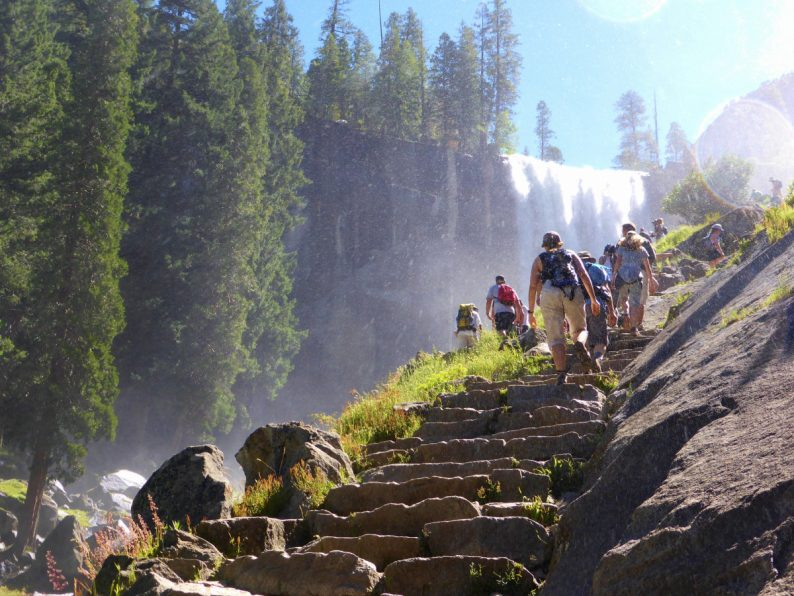 Vernal Fall Mist trail Yosemite