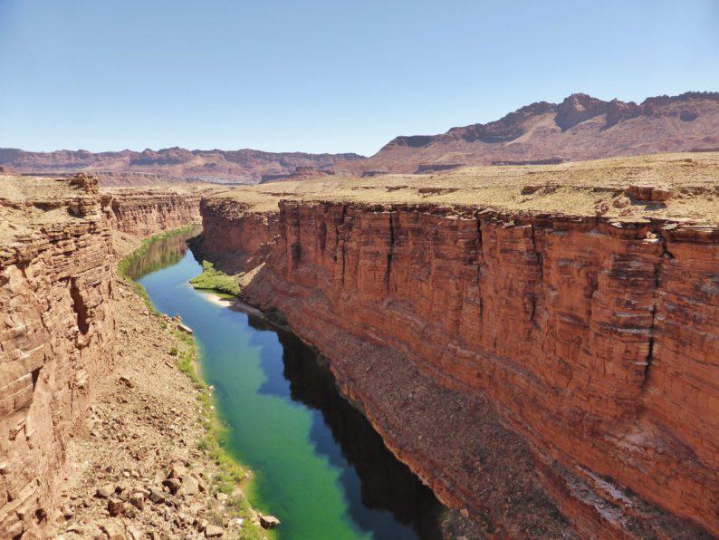 la rivière Colorado depuis Navajo Bridge, Arizona