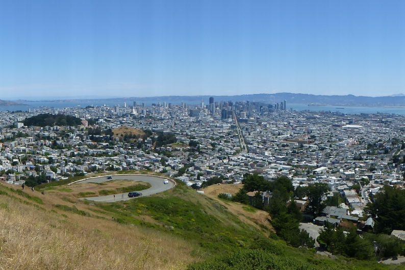 vue sur San Francisco depuis Twin Peaks