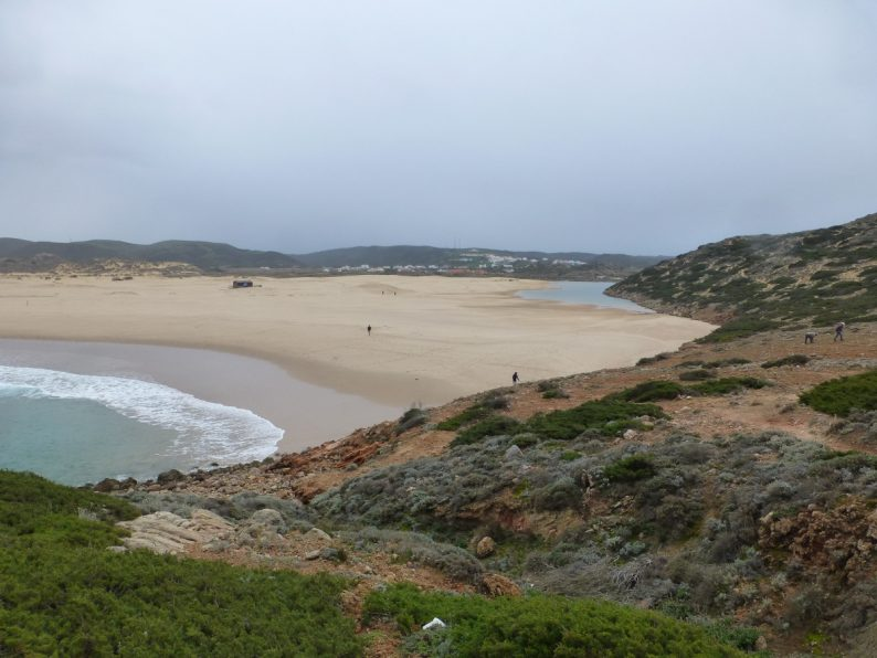 La plage de Bordeira, Algarve
