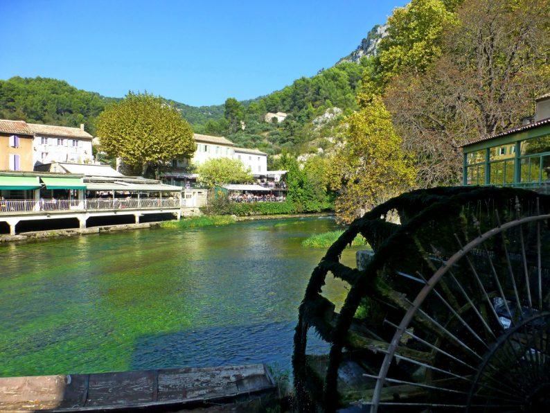 Roue à aubes, Fontaine de Vaucluse