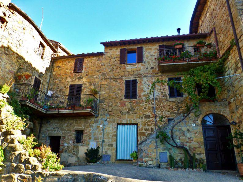 Le village médiéval de Monticchiello, Toscane